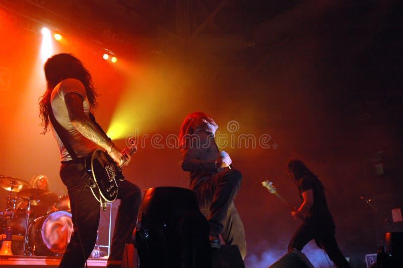 Concert de rock sous tension photographie stock libre de droits