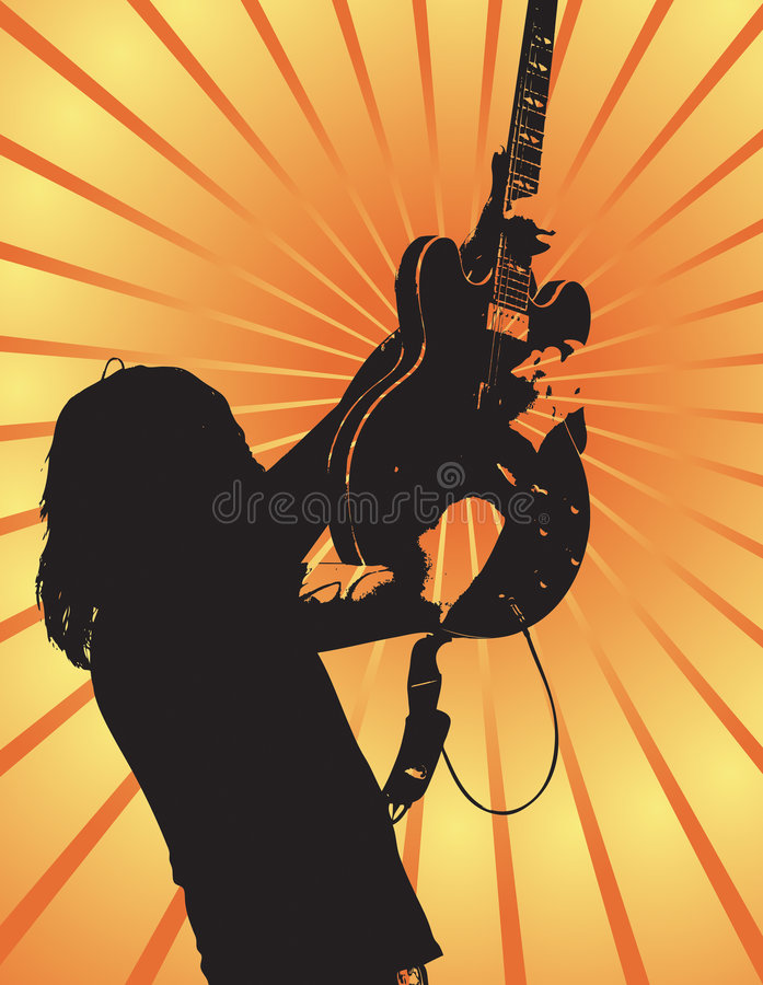 Concert de rock XIII images libres de droits
