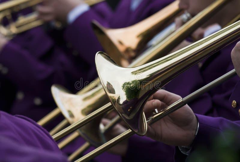 Concert de trompette photographie stock