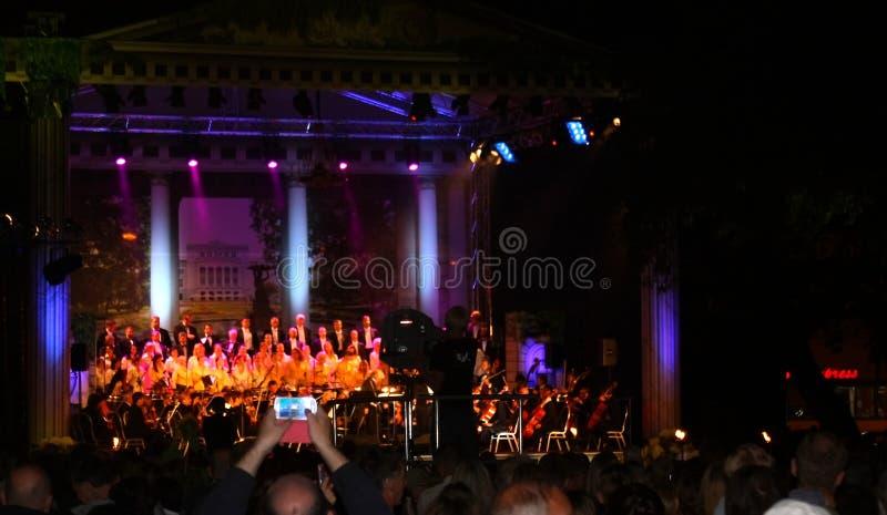 Concert en plein air de musique d'opéra du festival 2013 de Riga. image libre de droits