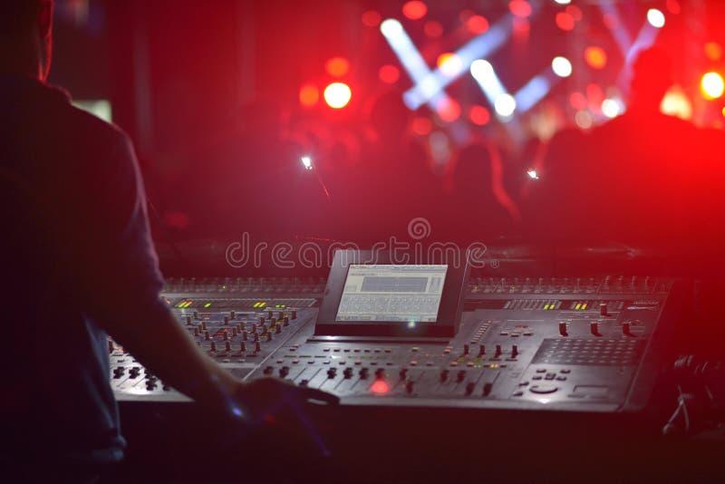 Concert extérieur avec le DJ image libre de droits