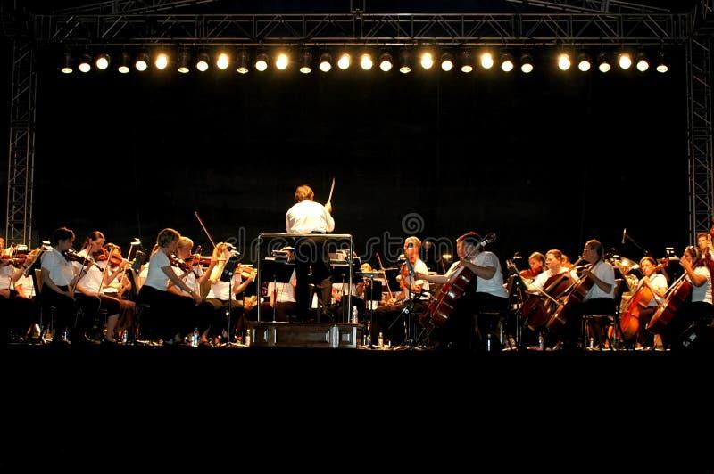 Concert extérieur de nuit photo stock