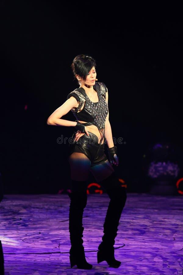 Concert of Gigi Leung in Hung Hom stock image