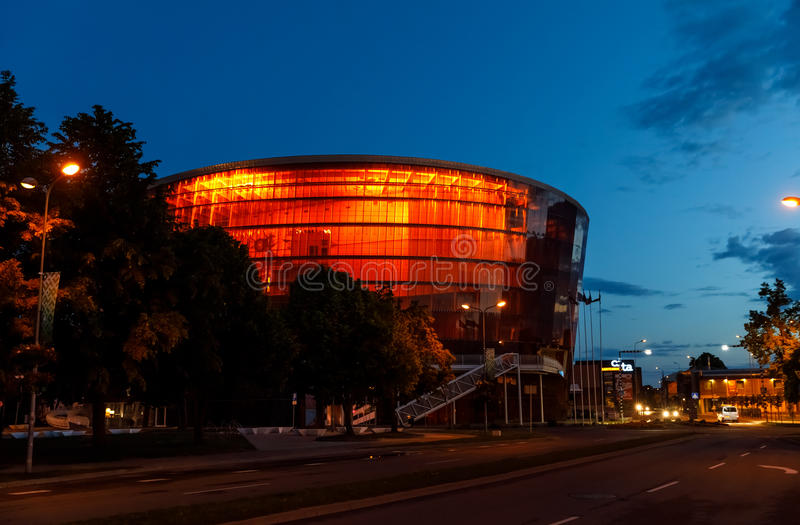 Concert Hall Great Amber in Liepaja, Latvia royalty free stock photography