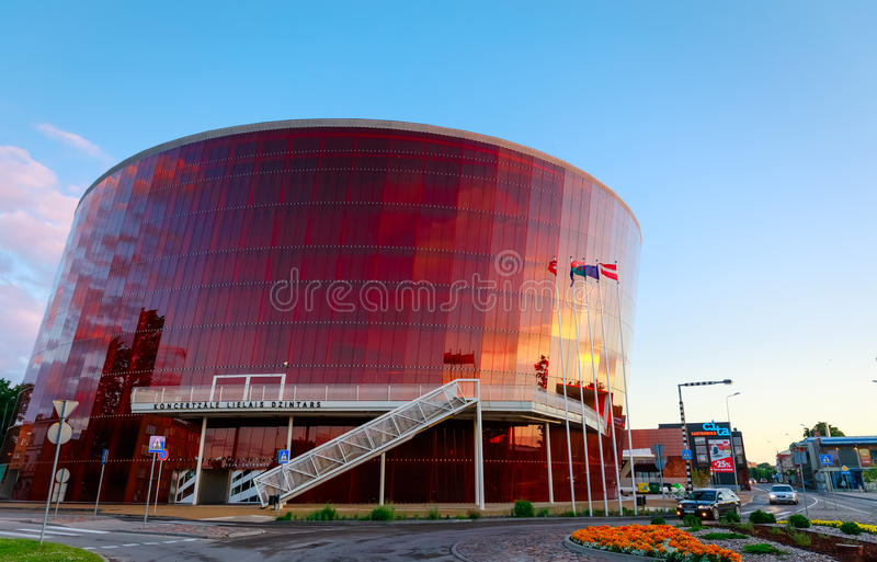 Concert Hall Great Amber in Liepaja, Latvia stock images