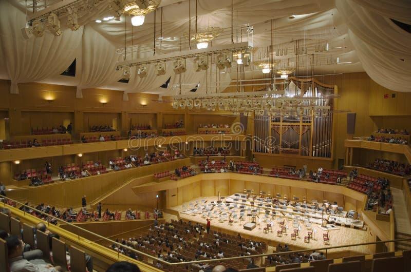 Concert hall interior, Nagoya, Japan royalty free stock images