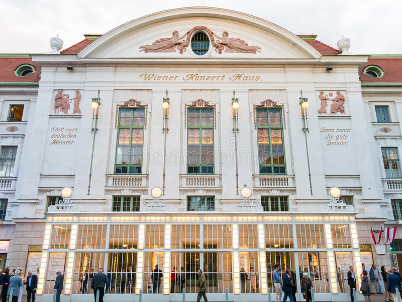 Concert hall Konzerthaus in Vienna, Austria royalty free stock image