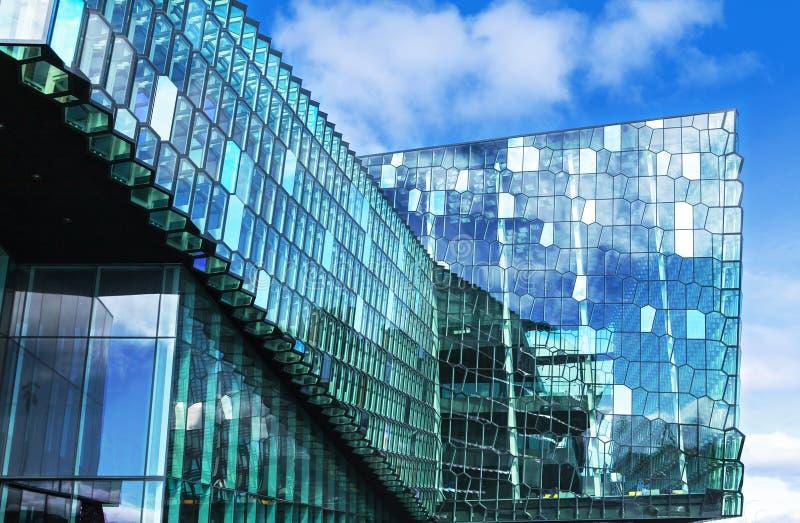 Concert hall in reykjavik stock photo