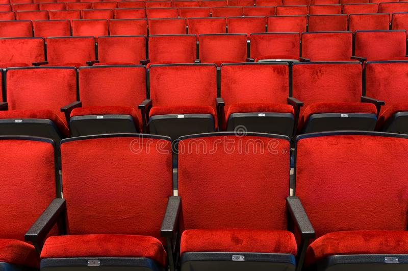 Concert Hall seating stock images