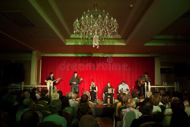 Concert of irish band danu. Concert of Irish traditional music band Danu on 2 of june 3013 royalty free stock image