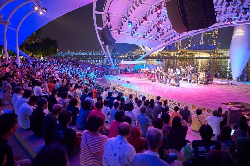 Concert la nuit photo libre de droits