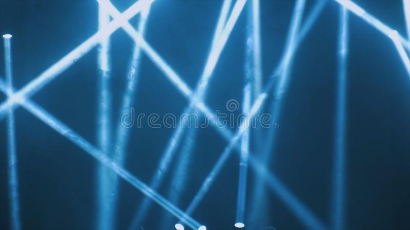 Concert lighting against a dark background ilustration. Spotlight on stage. Free stage with lights, lighting devices.  royalty free stock photography