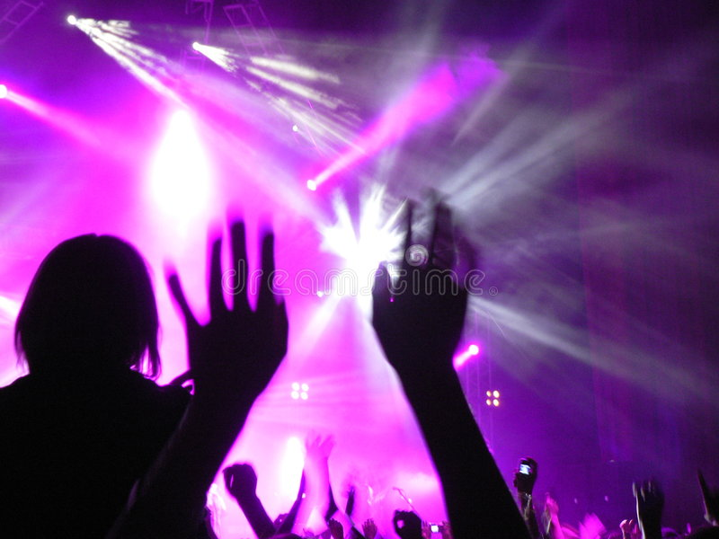 Concert lights royalty free stock photos