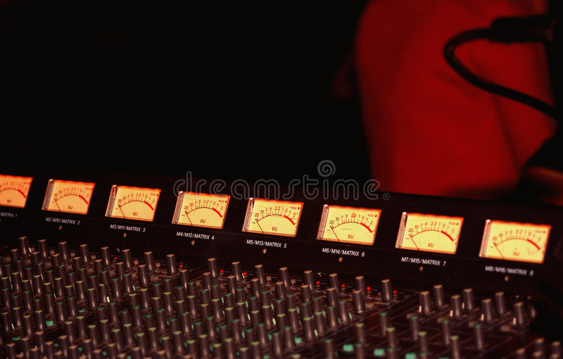 Concert mixer royalty free stock photos