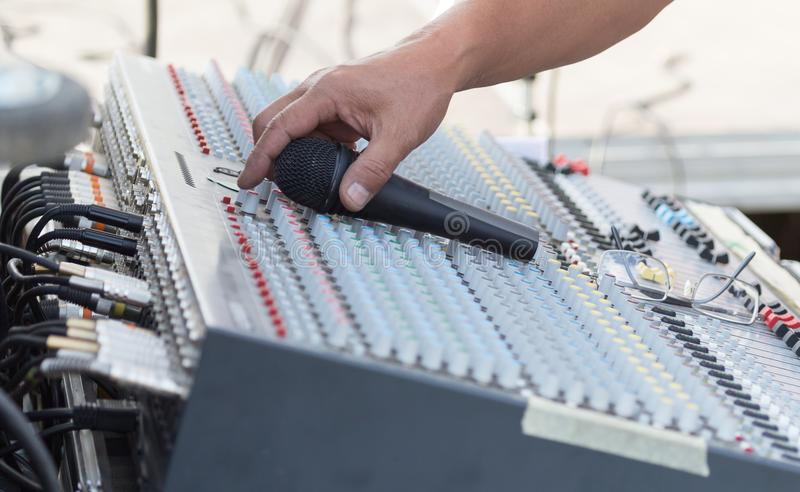 Concert music control stock image