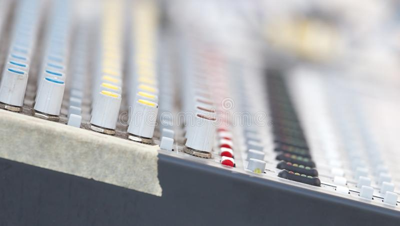 Concert music control royalty free stock photography