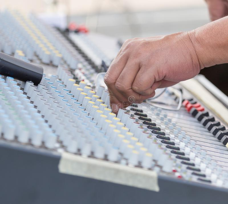 Concert music control royalty free stock photo