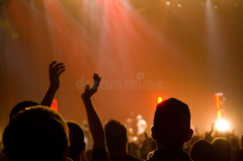 Concert musical - chrétien - applaudissement photographie stock libre de droits