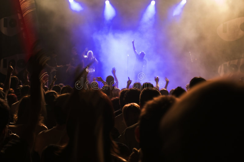 Concert people stock photography