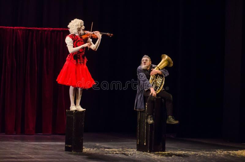 Concert pour deux clowns photos libres de droits