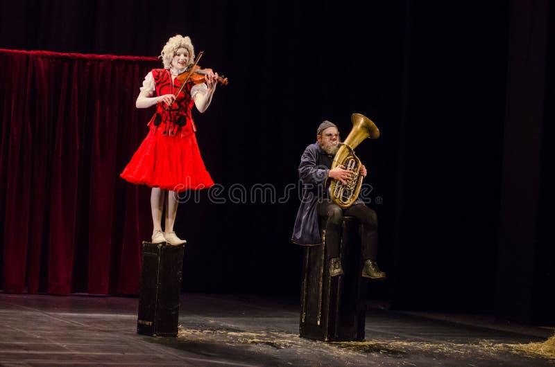 Concert pour deux clowns photo libre de droits