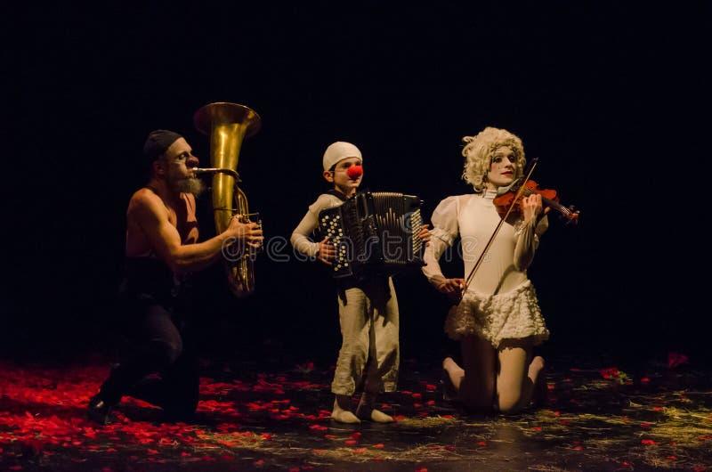Concert pour deux clowns images stock
