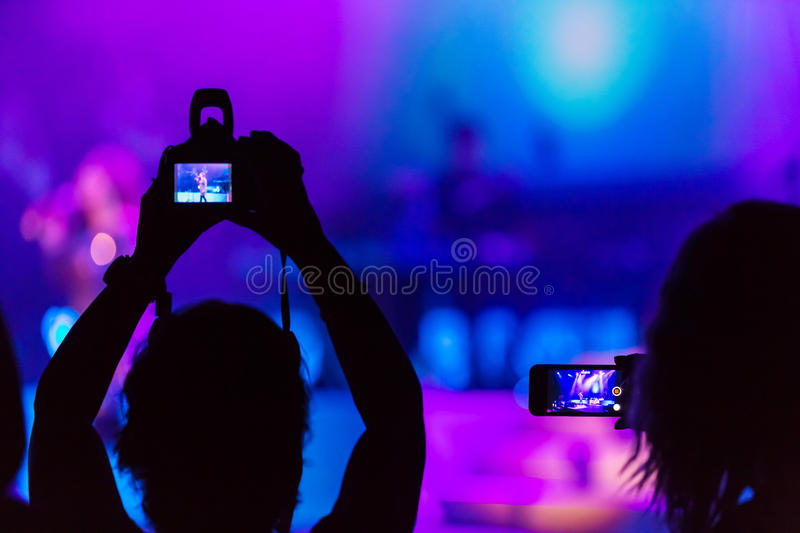 Download Concert recording stock image. Image of artist, stage - 48140523