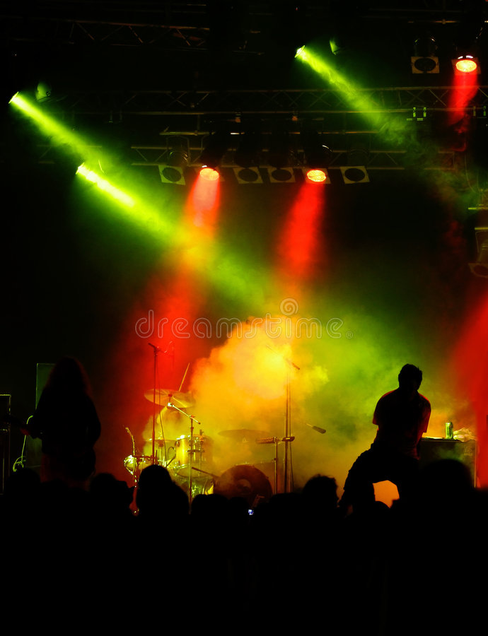 Concert In Red-yellow-green Royalty Free Stock Photo