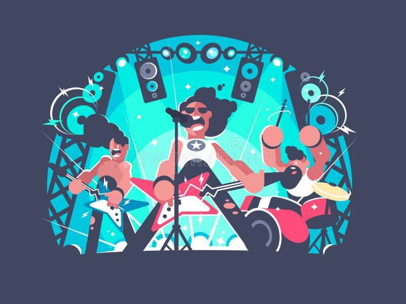 Concert of rock band royalty free illustration