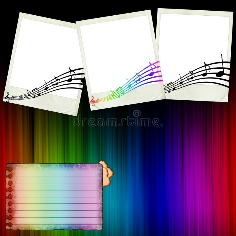 Download The Concert Scrapbook Page stock illustration. Illustration of green - 16388783