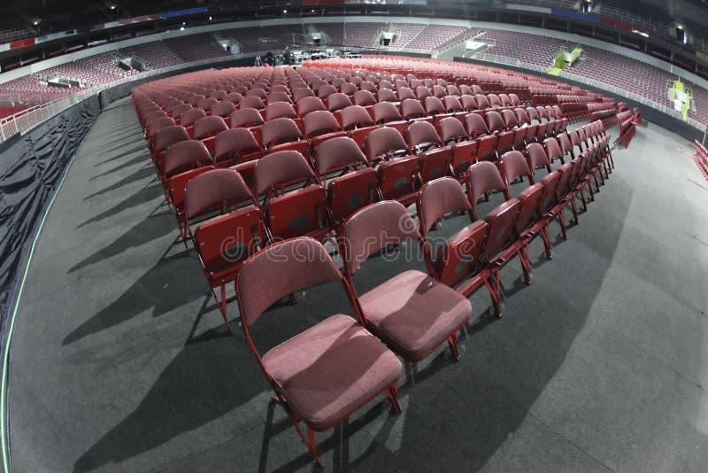 Concert seats. In entertainment arena stock photos