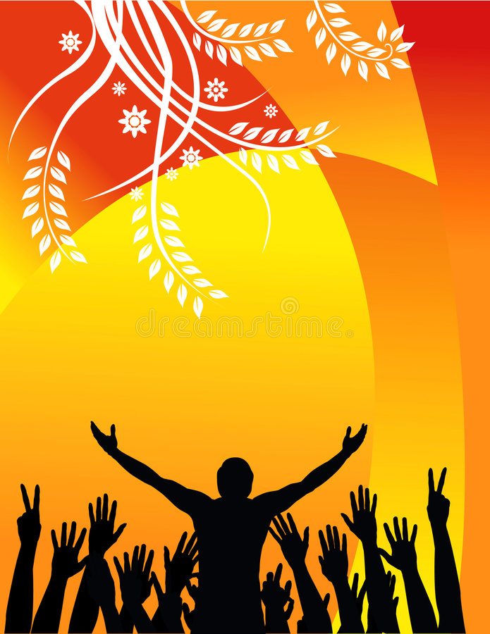 Free Concert Silhouette Background Royalty Free Stock Photos - 4870568