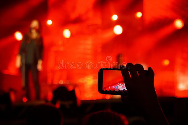 Concert Snapshot. Smartphone Snapshot at a concert royalty free stock photography