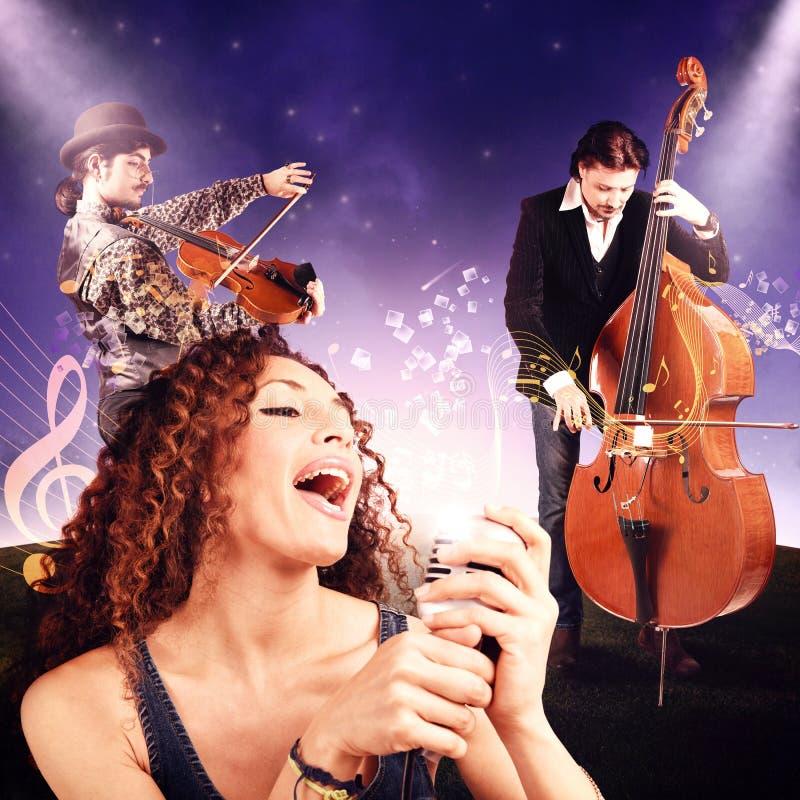 Concert sous les étoiles image stock