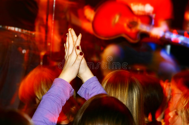 Concert sous tension image stock