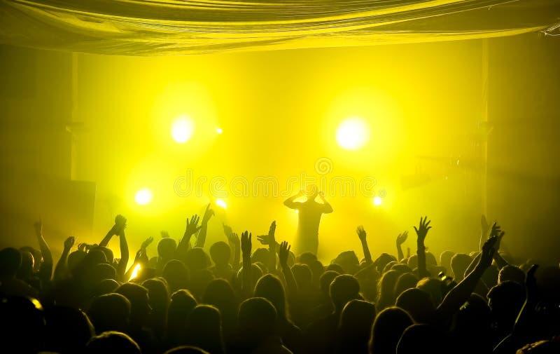 Concert souterrain de musique de club image stock