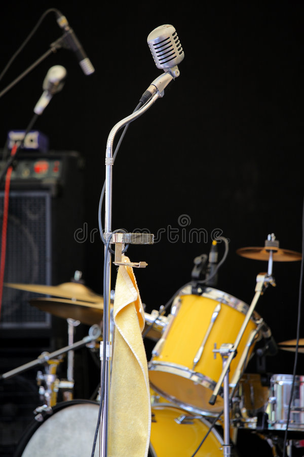 Download Concert stage stock photo. Image of entertainment, drums - 6525608