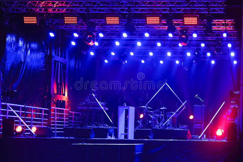 Concert Stage stock photography