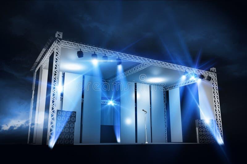 Download Concert Stage Illumination stock illustration. Image of band - 32690378