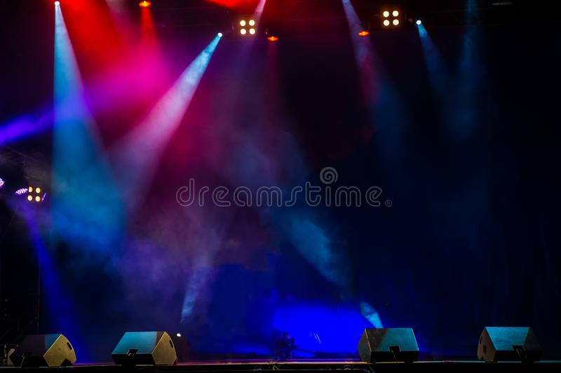 Download Concert Stage Lights Colorful Background Of Stock Image