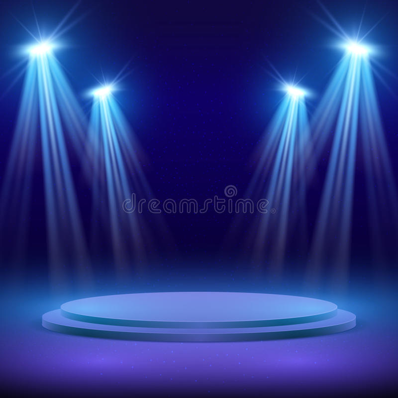 Free Concert Stage With Spot Light Lighting. Show Performance Vector Background Royalty Free Stock Photos - 98345358