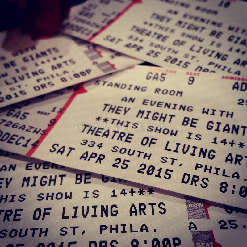 Concert. Tickets tmbg royalty free stock image