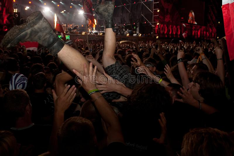 A concert at the Woodstock Festival in Kostrzyn nad Odrą. stock image