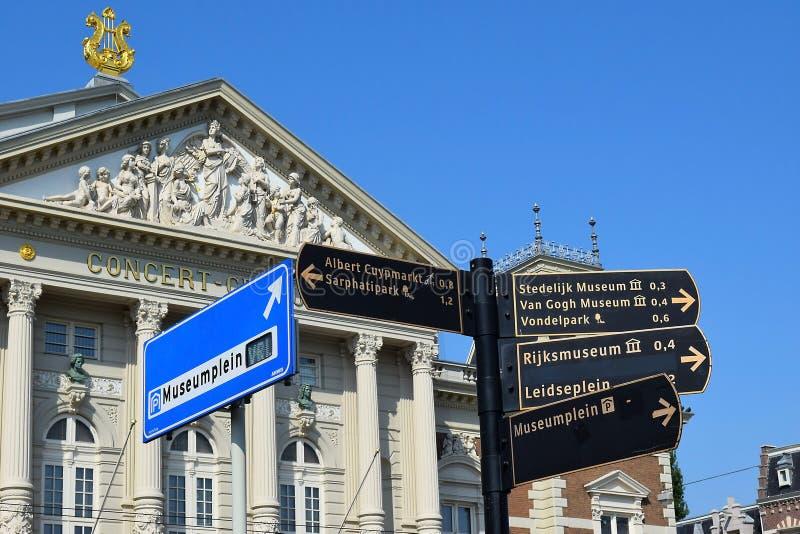 Concertgebouw real, sala de conciertos en Amsterdam imagen de archivo