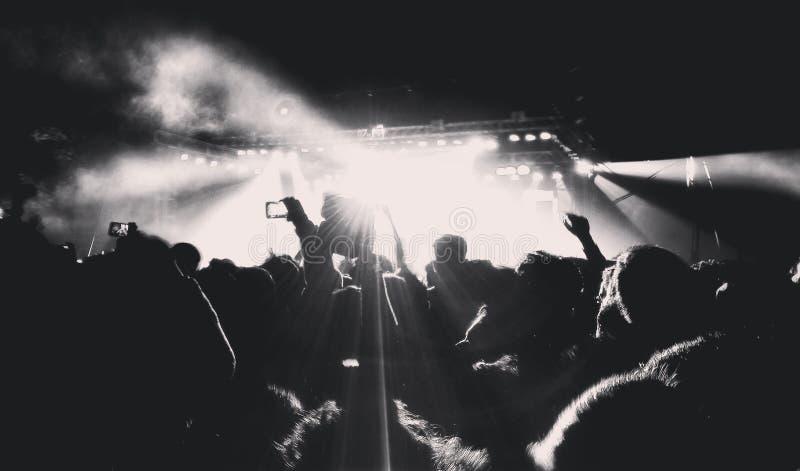 Concerti musicali fotografia stock libera da diritti