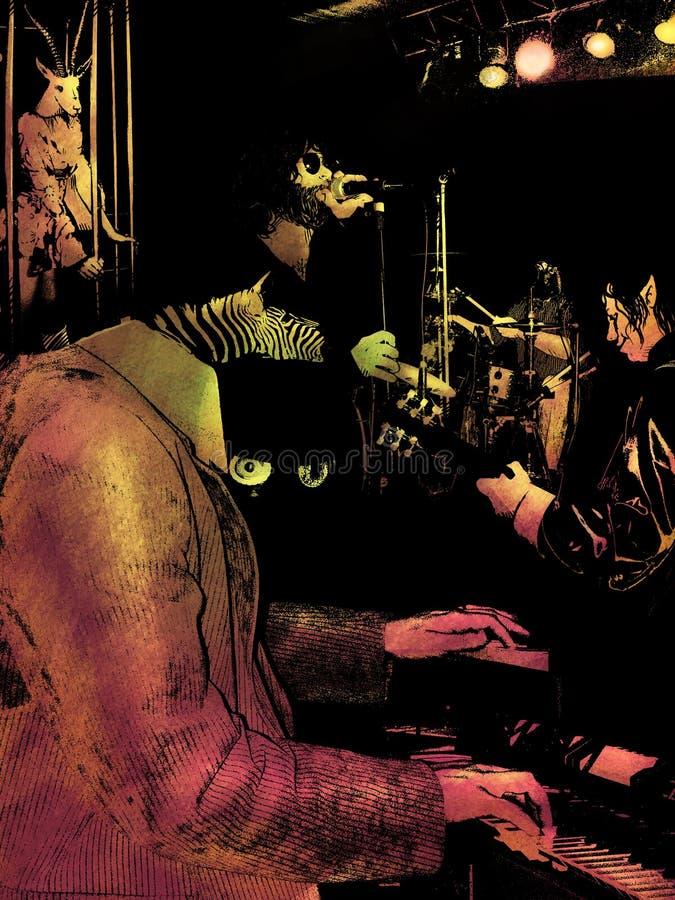 Concerto ilustração royalty free