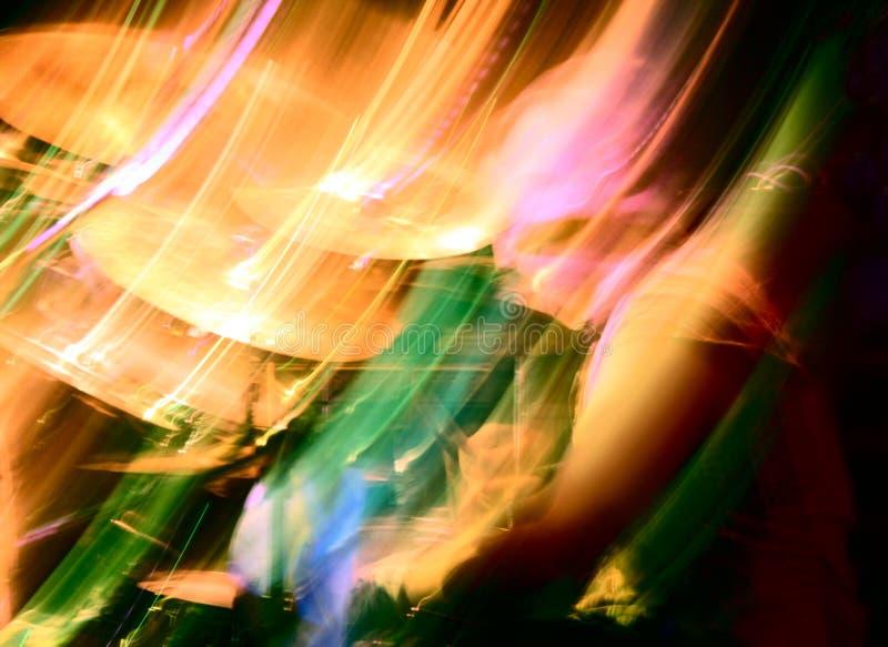 Concerto abstrato do baterista fotografia de stock royalty free