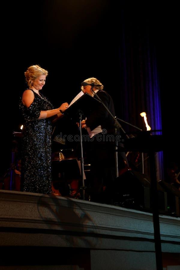 Concerto ao ar livre da música da ópera do festival 2013 de Riga. foto de stock