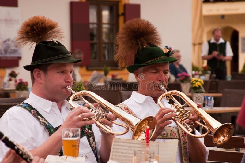 Concerto bavarese dell'aria aperta fotografia stock