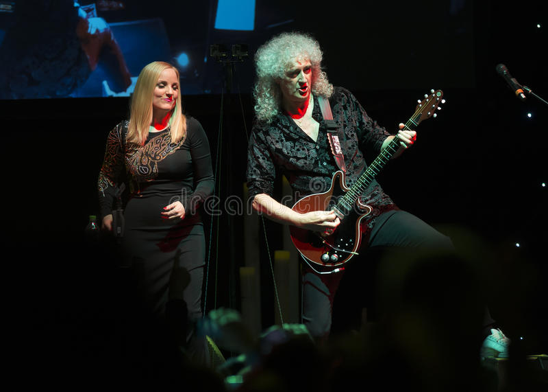 Concerto Brian May & Kelly Wellis The Voice immagine stock libera da diritti